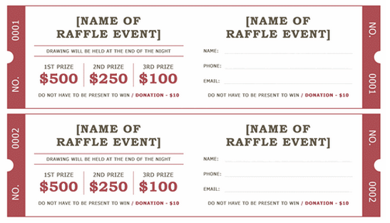 Doc644415 Word Ticket Templates Event Ticket Template – Raffle Ticket Maker