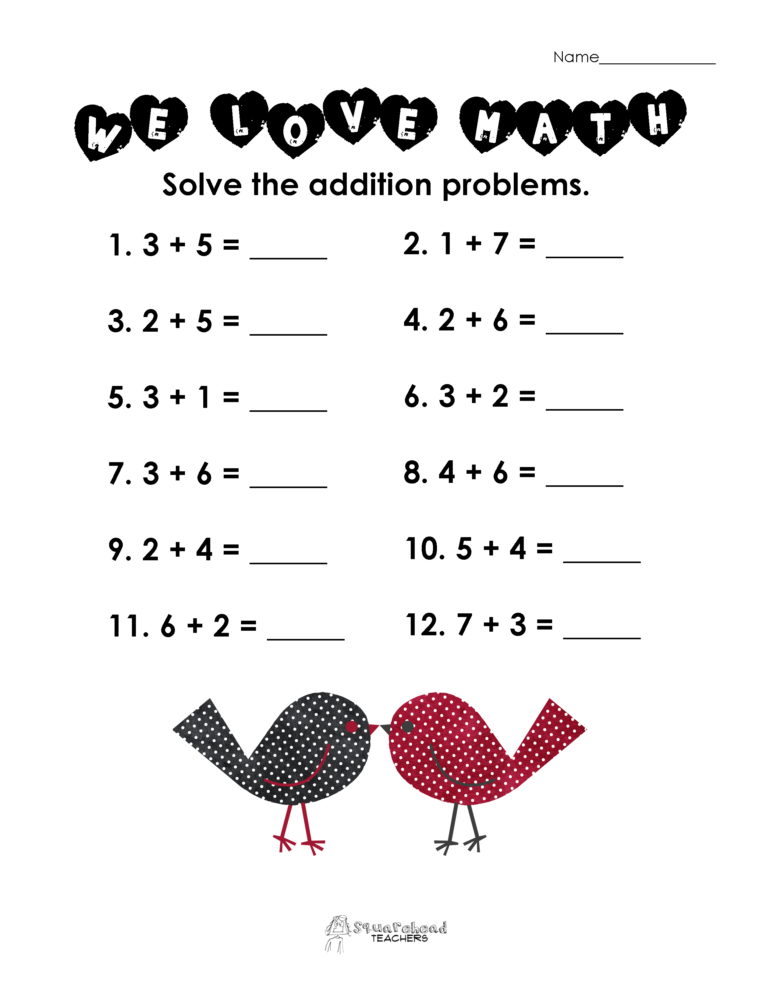 5 Best Images Of Valentine S Day Math Printable Worksheets