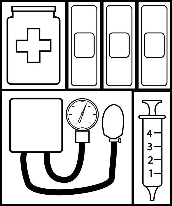 16 Unique First Aid Kit Coloring Pages Free - PixAbay Photo | 690x574