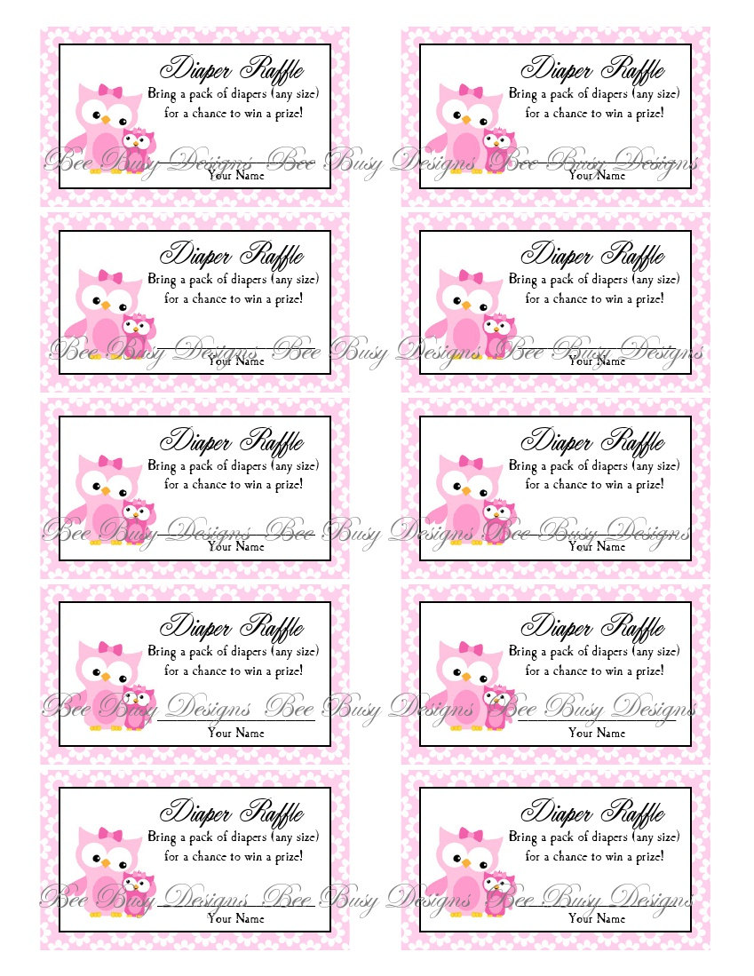 This is a graphic of Free Printable Diaper Raffle Ticket Template Download with regard to fancy