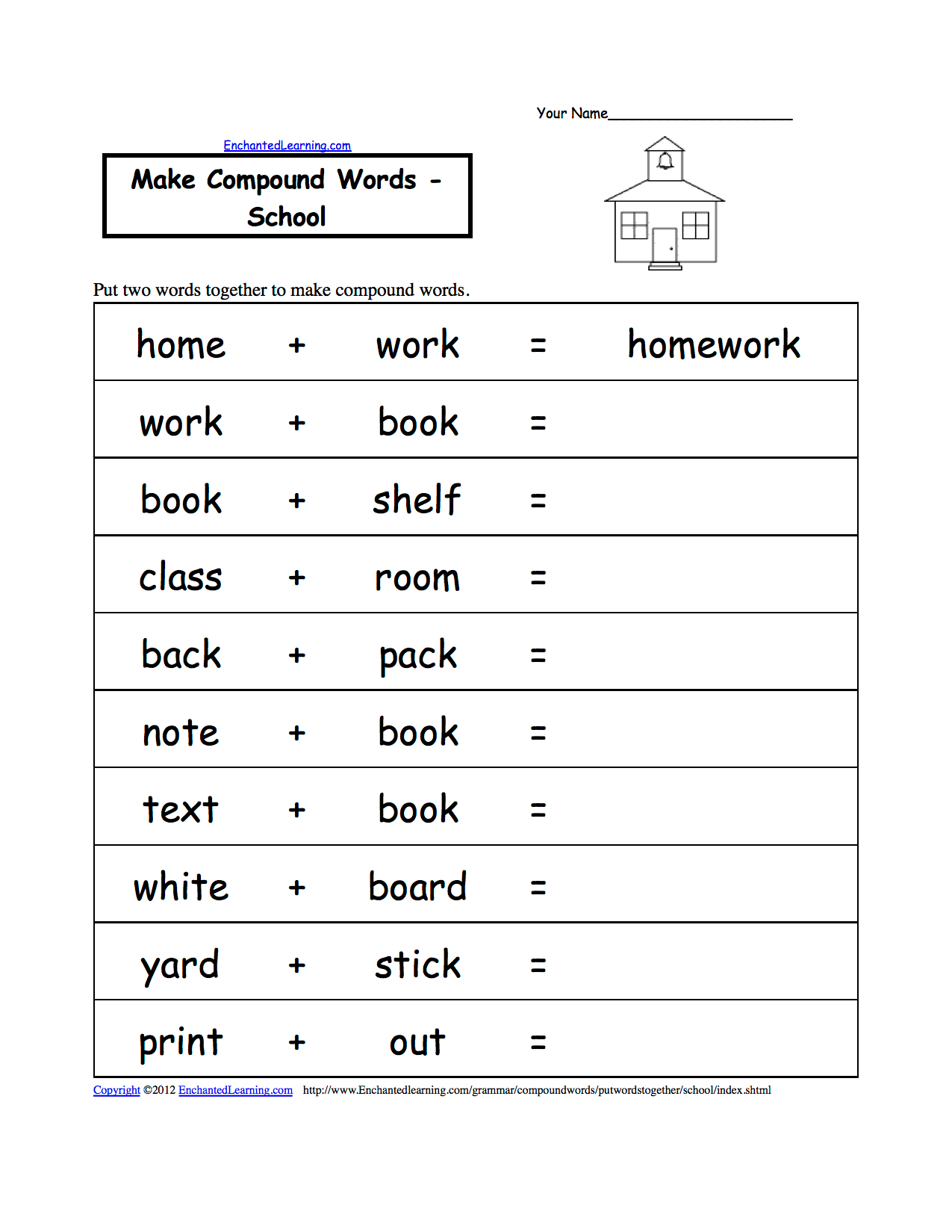 5 Best Images Of School Age Worksheets Printable