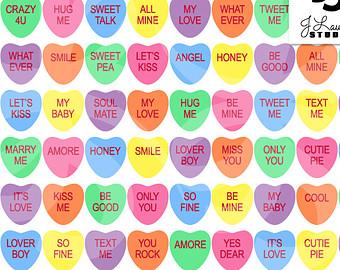 7 Best Images Of Printable Valentine Conversation Heart