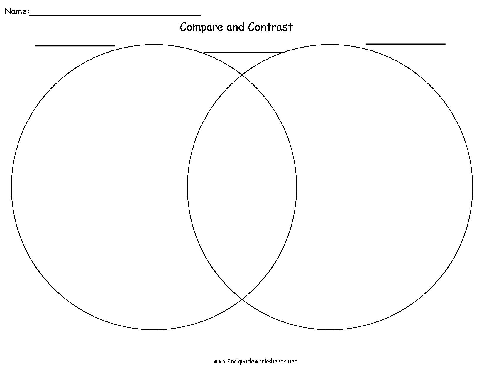 Compare Contrast Worksheets Essay