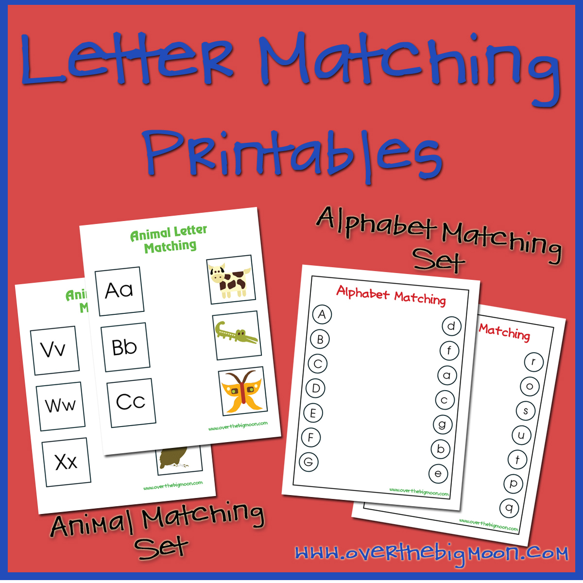 7 Best Images Of Letter Matching Printables