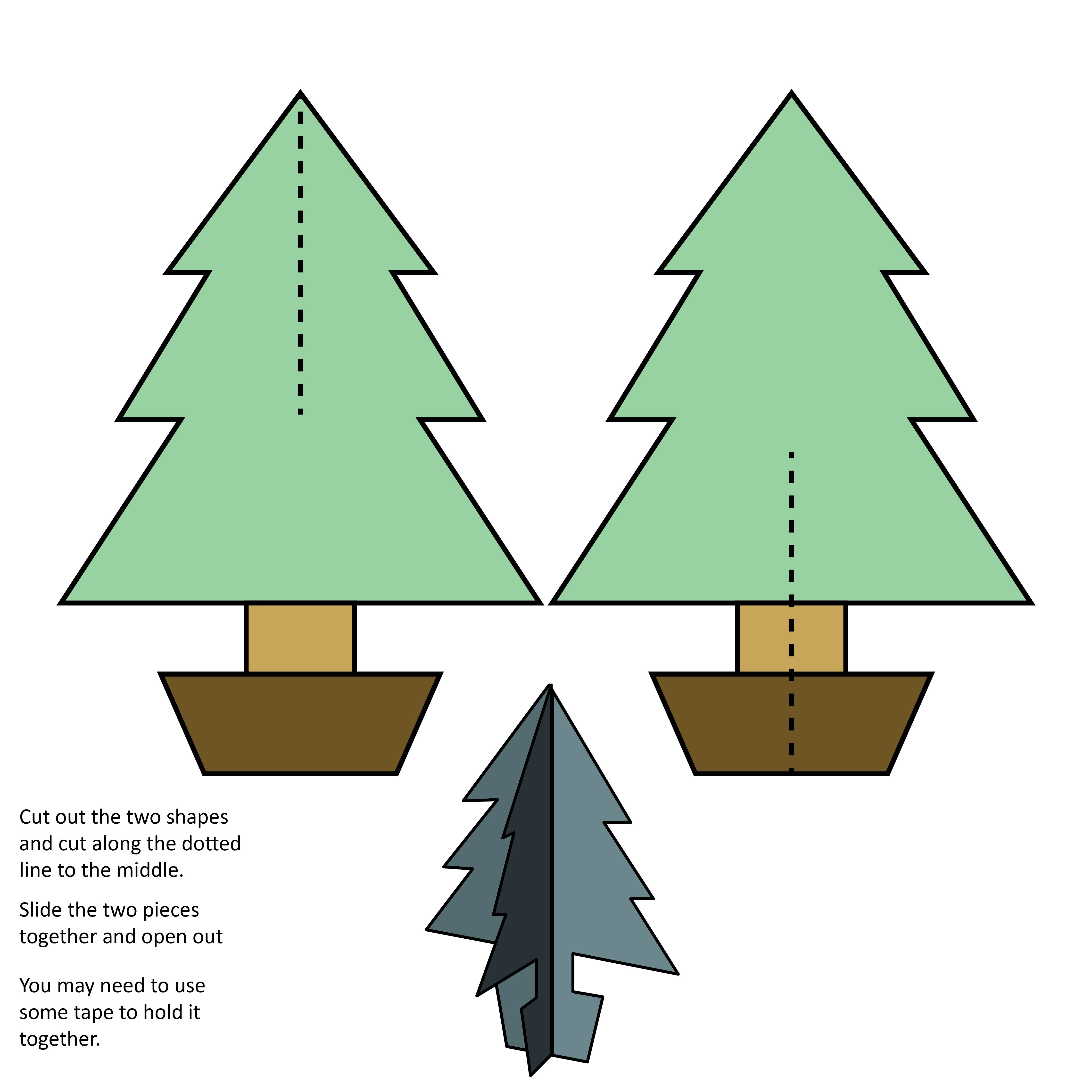 7 best images of 3d printable christmas templates 3d christmas