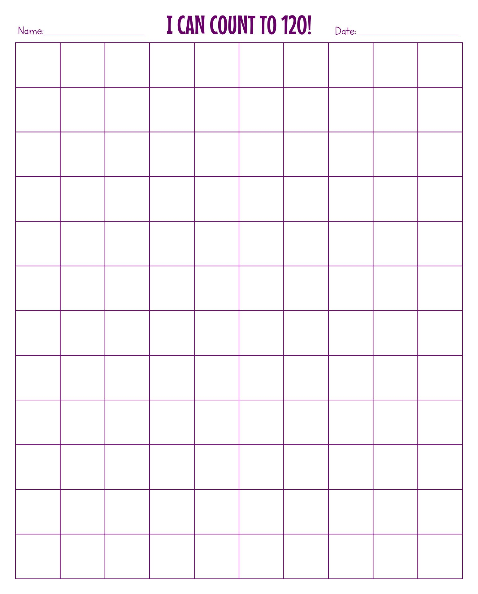 8 Best Images Of Printable Blank 120 Chart