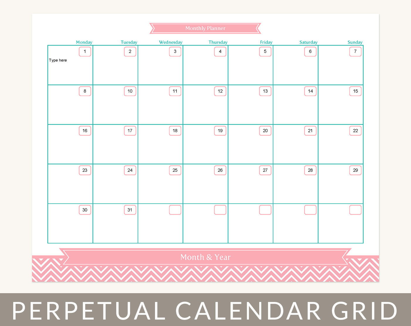 Blank Calendar 2014 Printable Month Glance