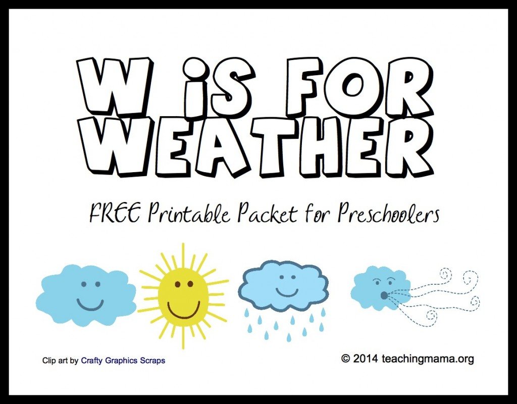 8 Best Images Of Free Weather Printables