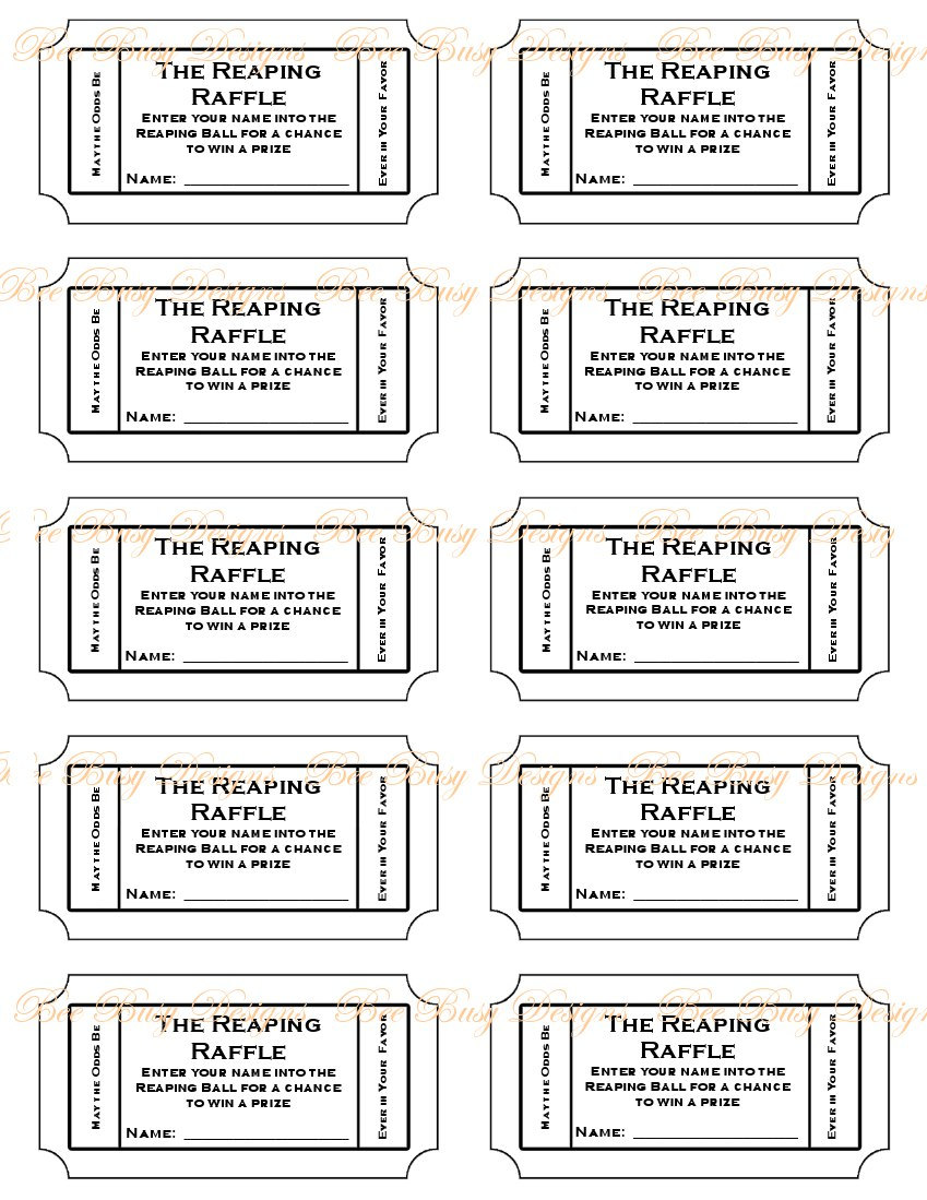 Printable Raffle Ticket Template Free eviction warning letter – Free Raffle Ticket Template