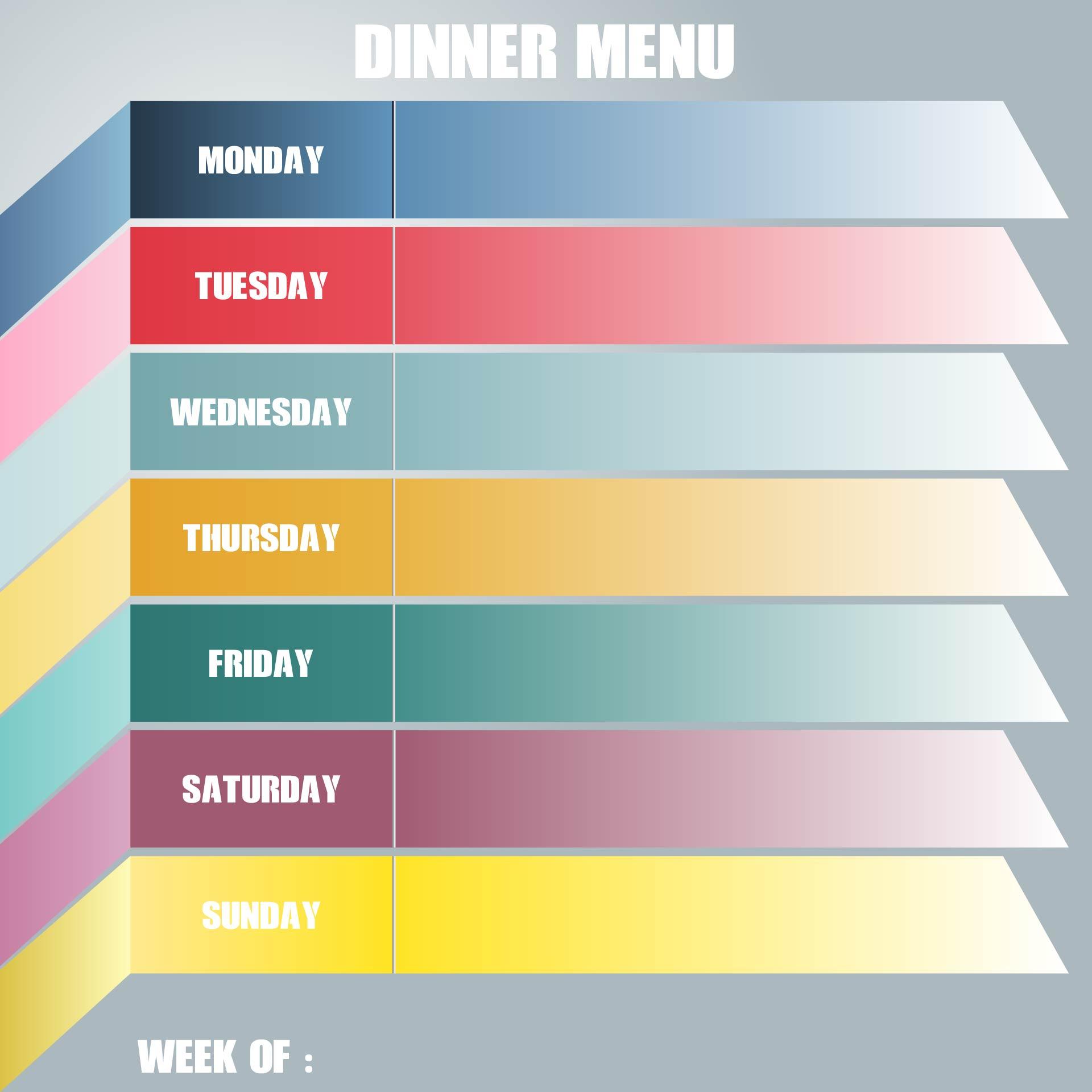 sample preschool lunch menu templates