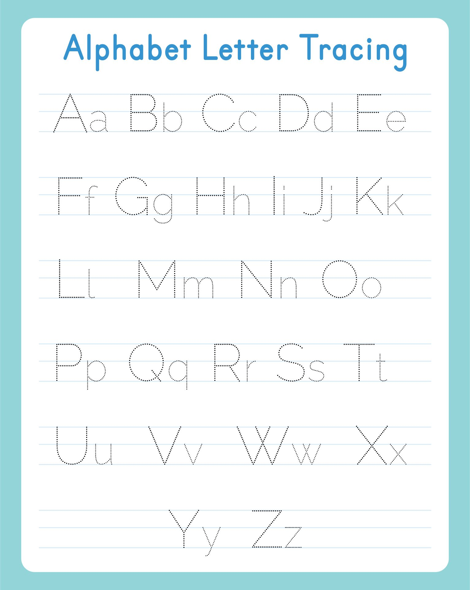 7 Best Images Of Free Printable Tracing Alphabet Letters