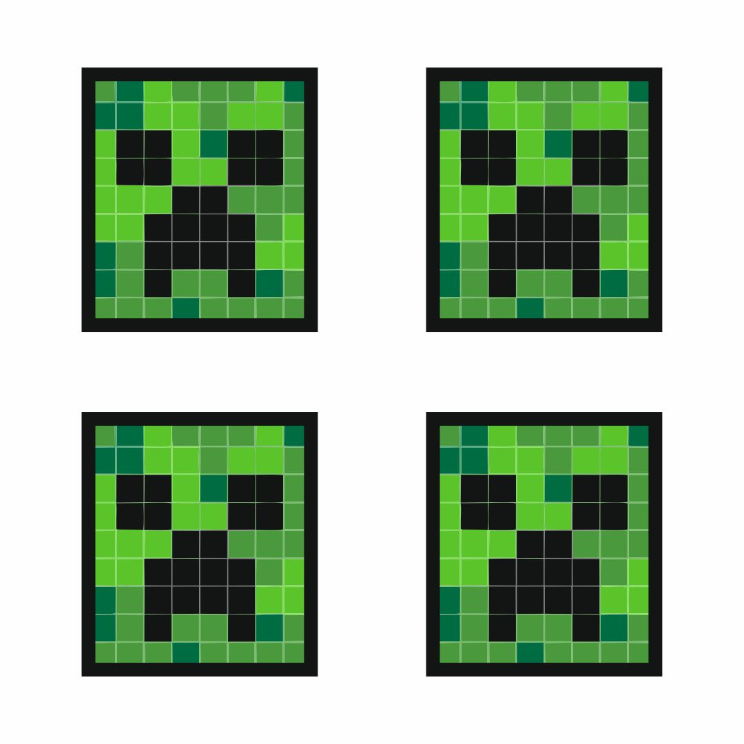 Face Minecraft Pic Creeper Template 64x64