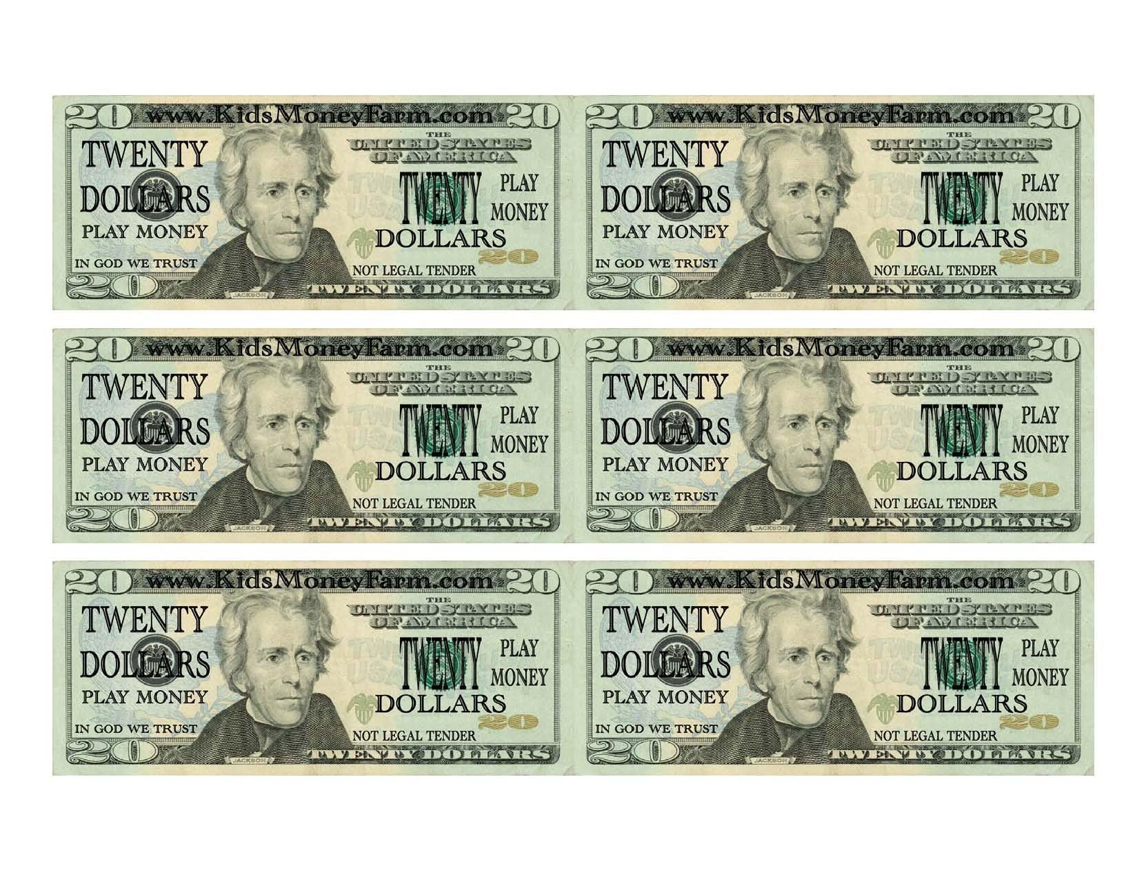 5 Best Images Of Printable Fake Money Bills