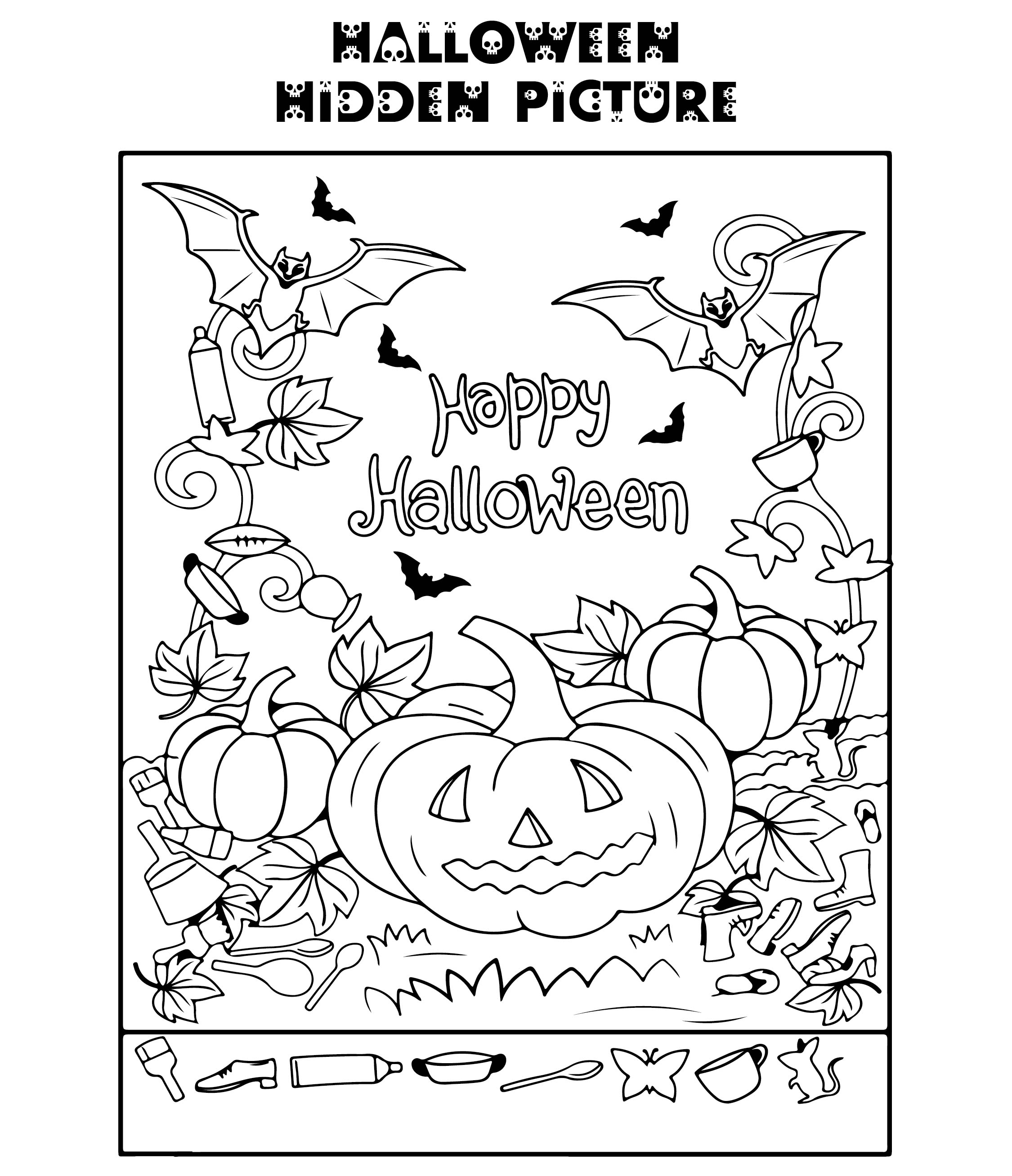 5 Best Halloween Hidden Picture Printable