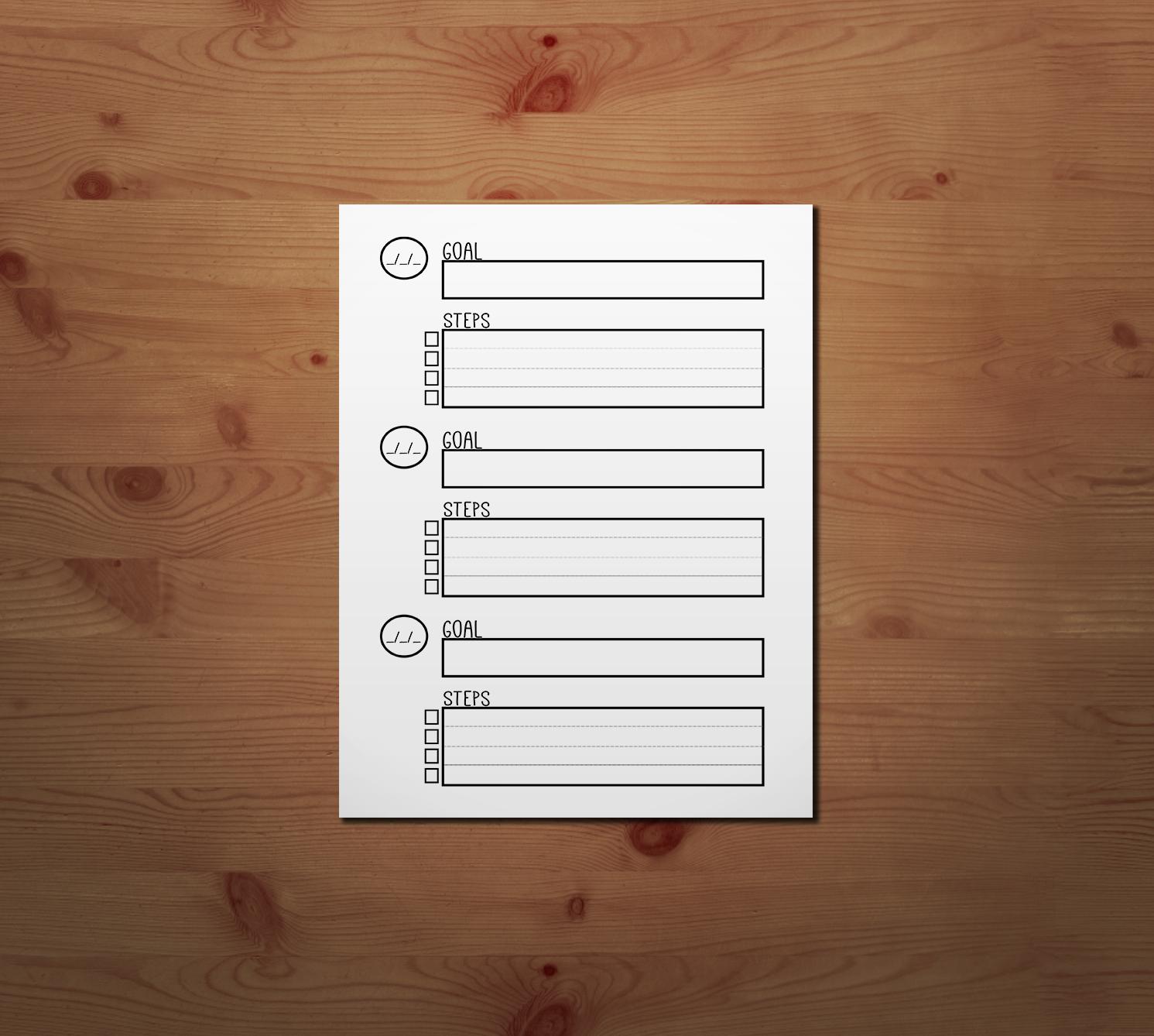 8 Best Images Of Goal Setting Printable Worksheet For