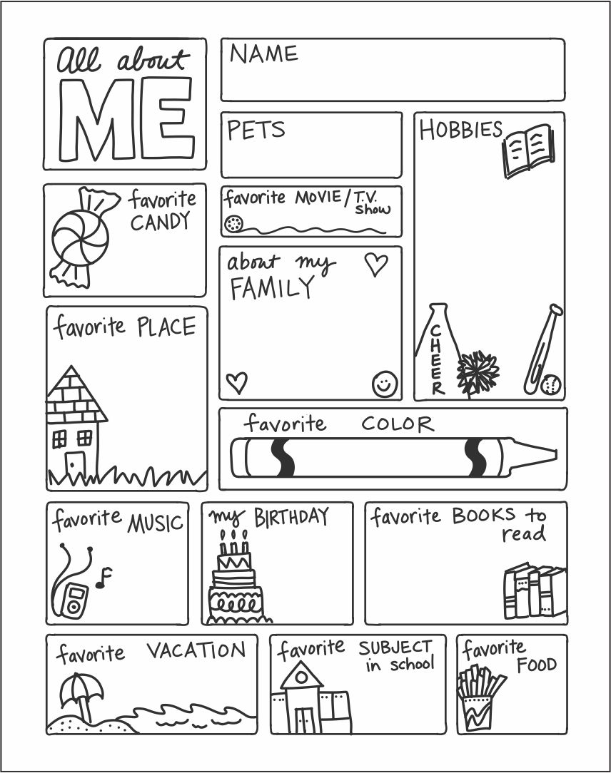 6 Best Images Of All About Me Printable Template