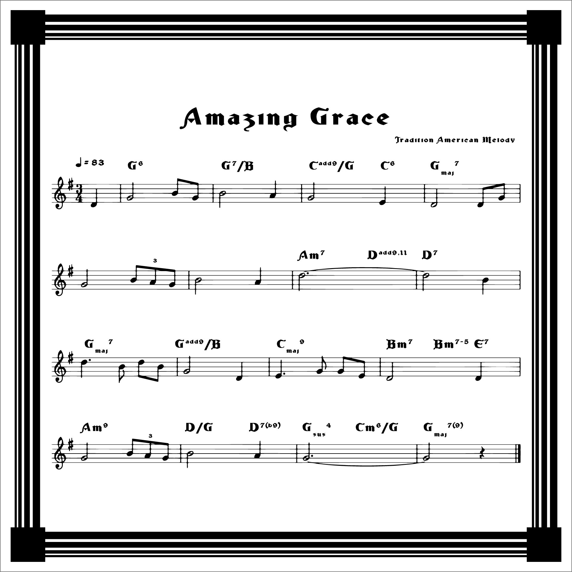 5 Best Images Of Amazing Grace Sheet Music Printable