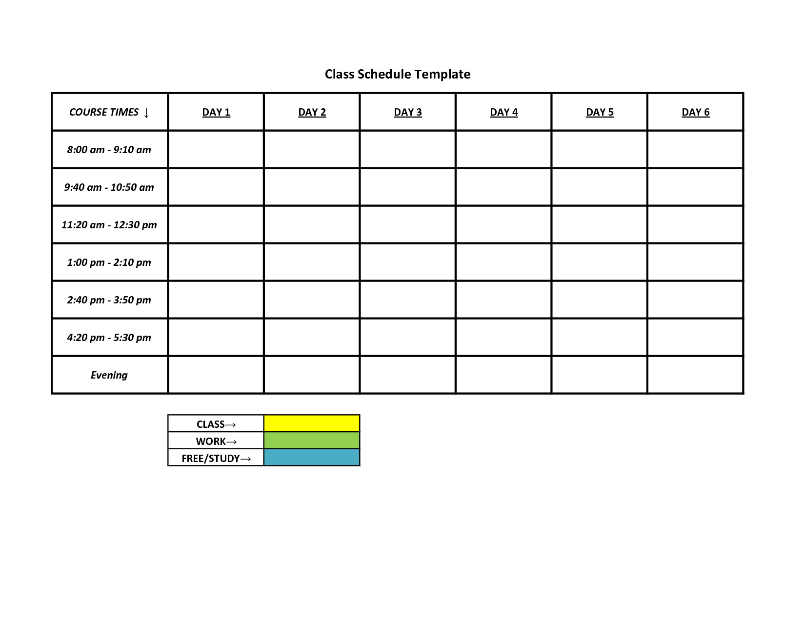 free schedules for excel daily schedules weekly schedules – Free Weekly Schedule Template