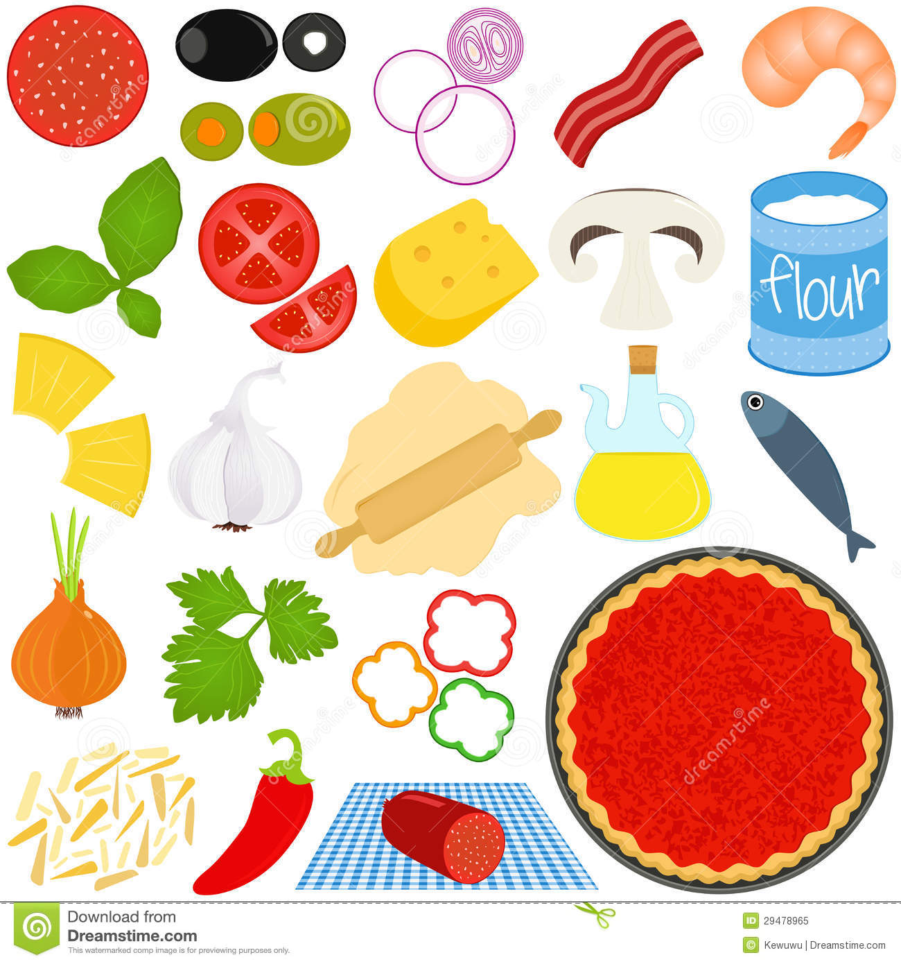 7 Best Images Of Printable Pizza Toppings Bigger