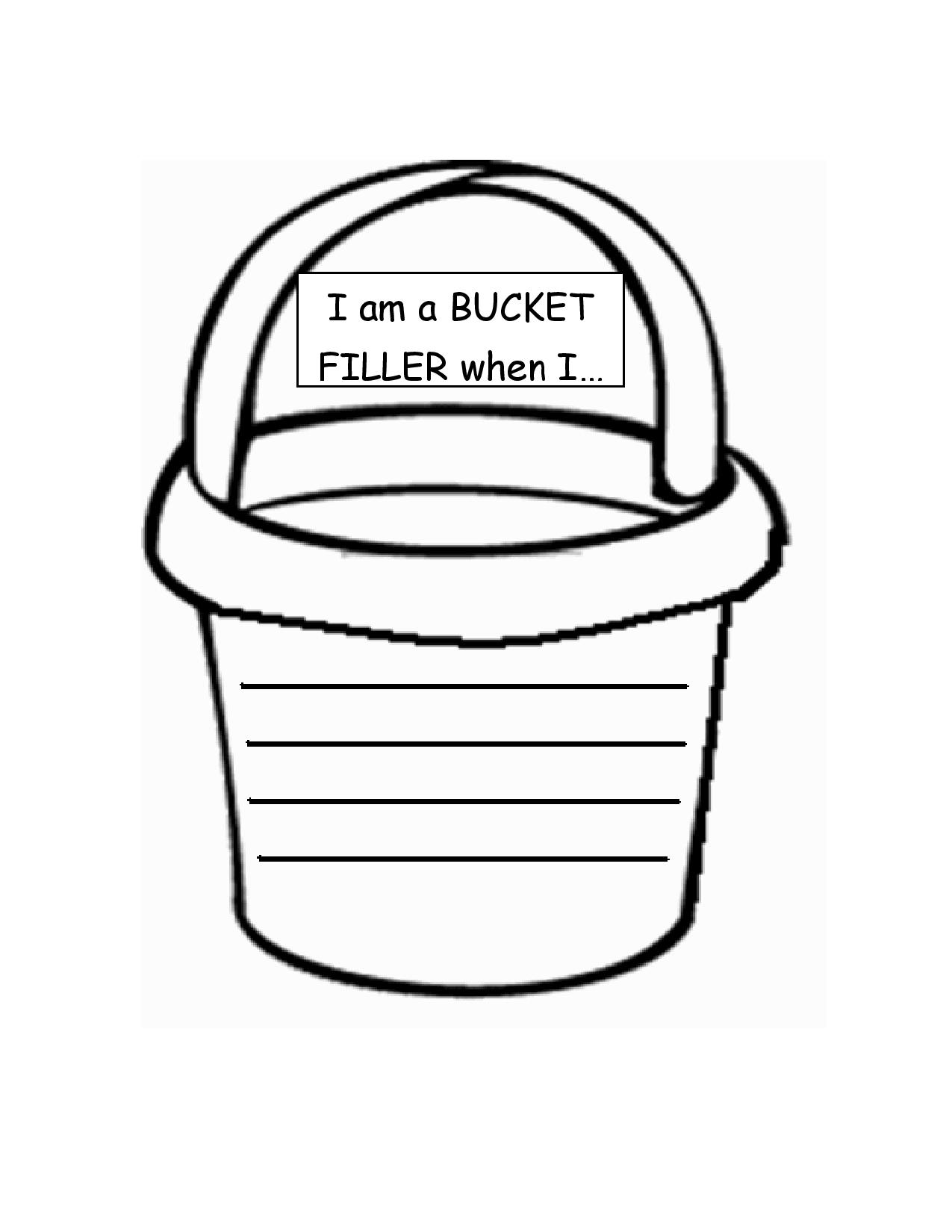 4 Best Images Of Bucket Outline Printable