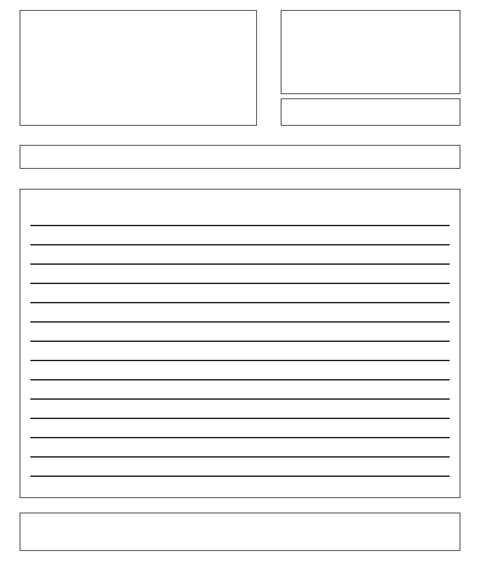 photograph relating to Letter Writing Template for Kids named Blank Composing Template. perfect pictures of blank handwriting