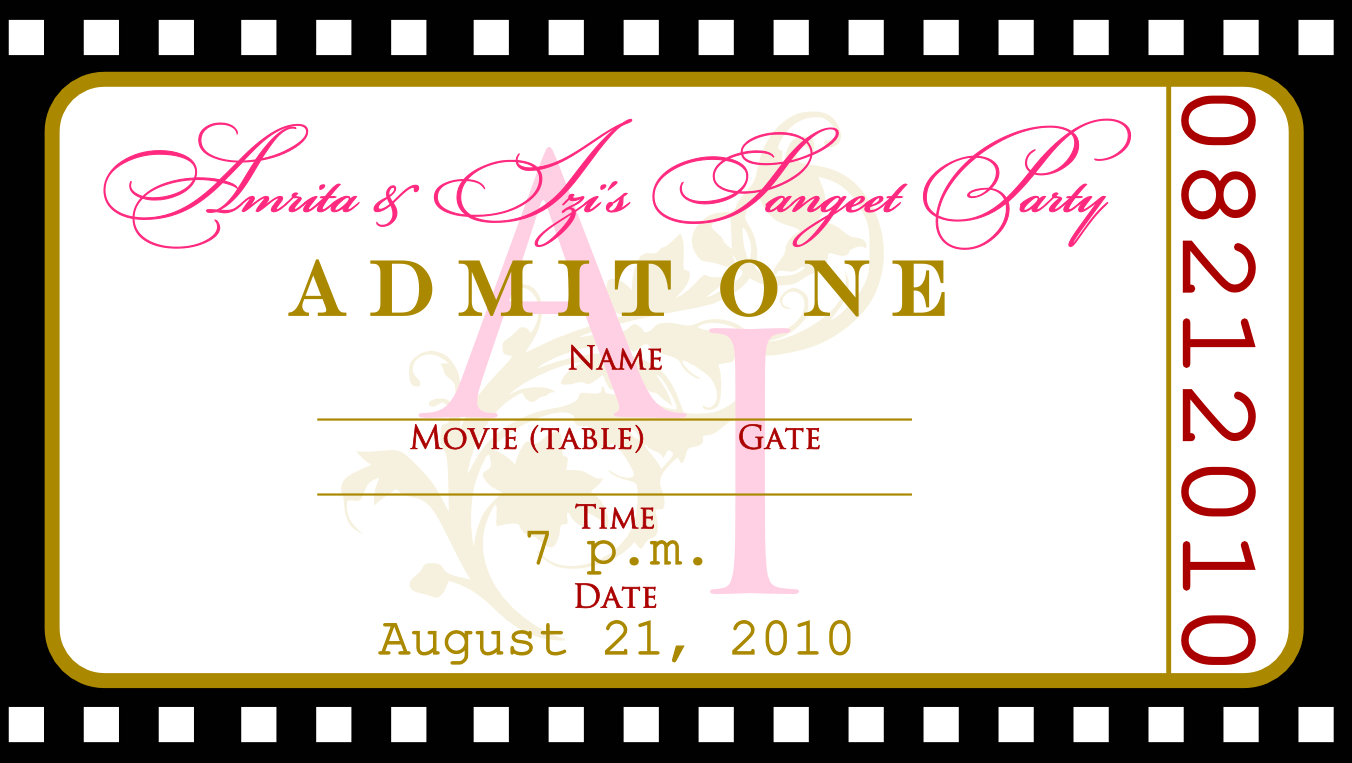 Ticketmaker free party planner template – Free Ticket Maker Template