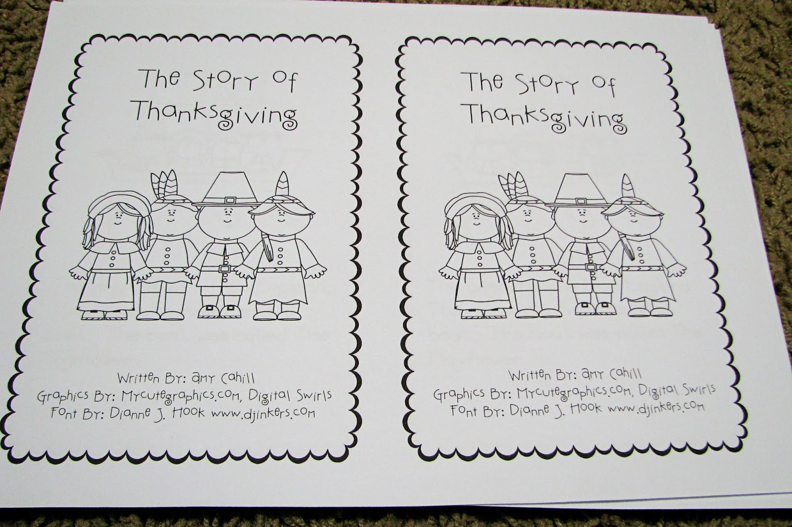7 Best Images Of Printable Preschool Thanksgiving