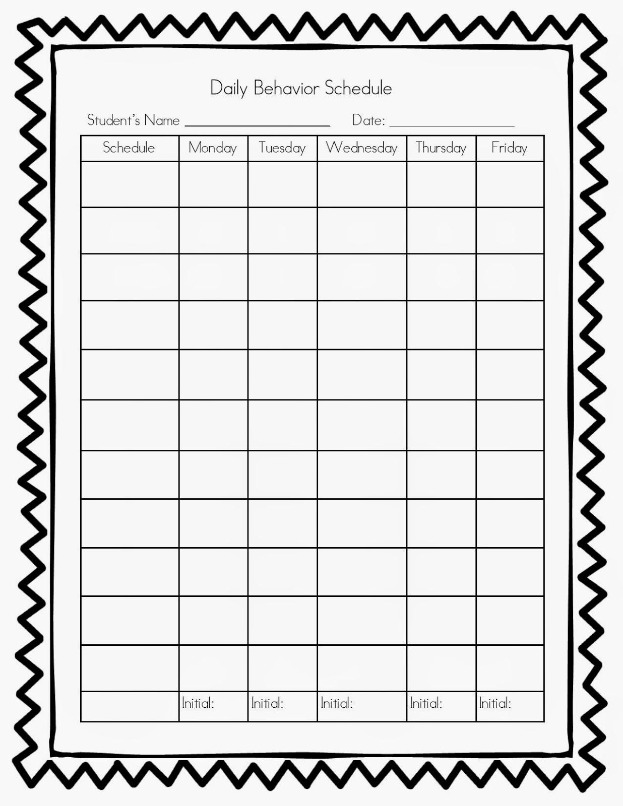 Homework Log For Teachers Blank Weekly