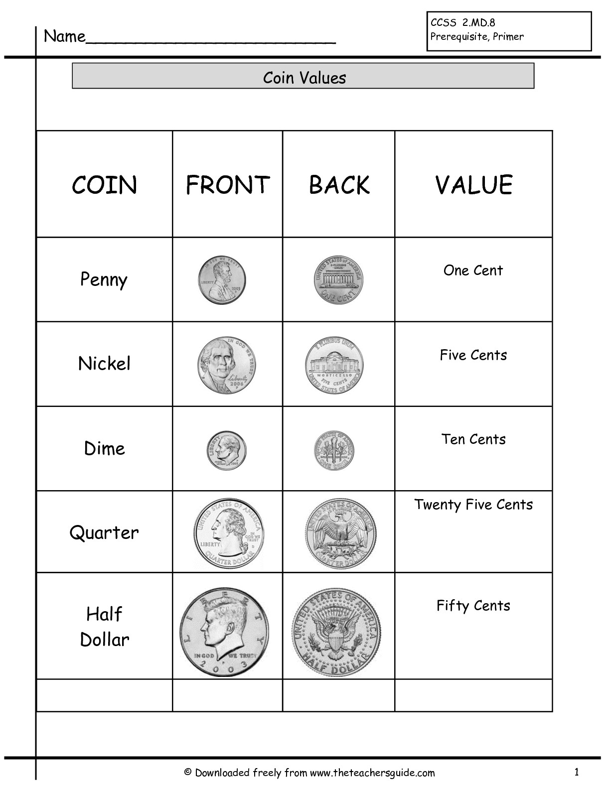 3 Best Images Of Dollars Money Worksheets Free Preschool