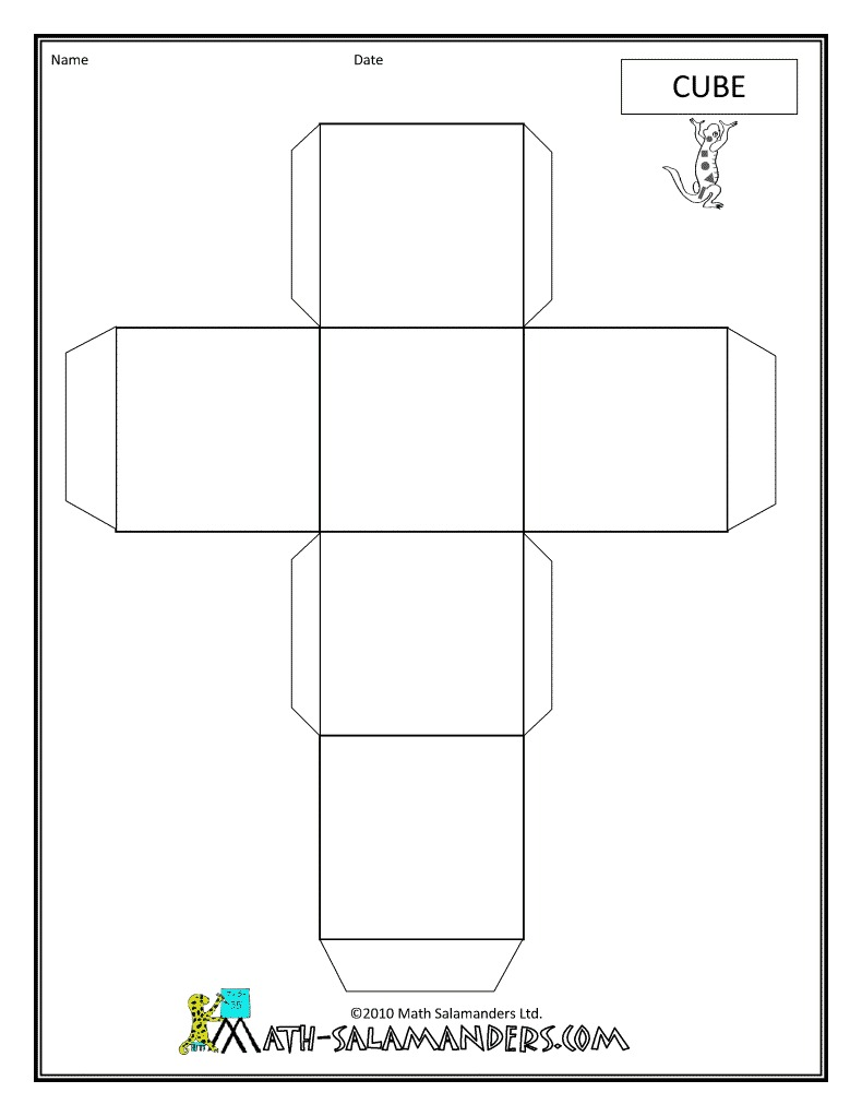 worksheet Cube Worksheet cube net template free printable worksheet nets large images 3d shape of a cube