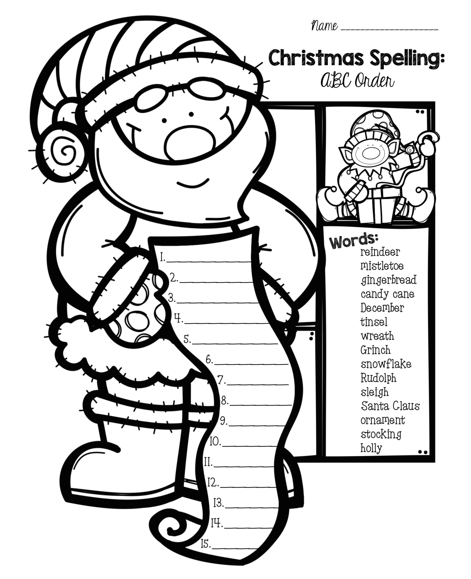 4 Best Printable Worksheets For 1st Grade Christmas