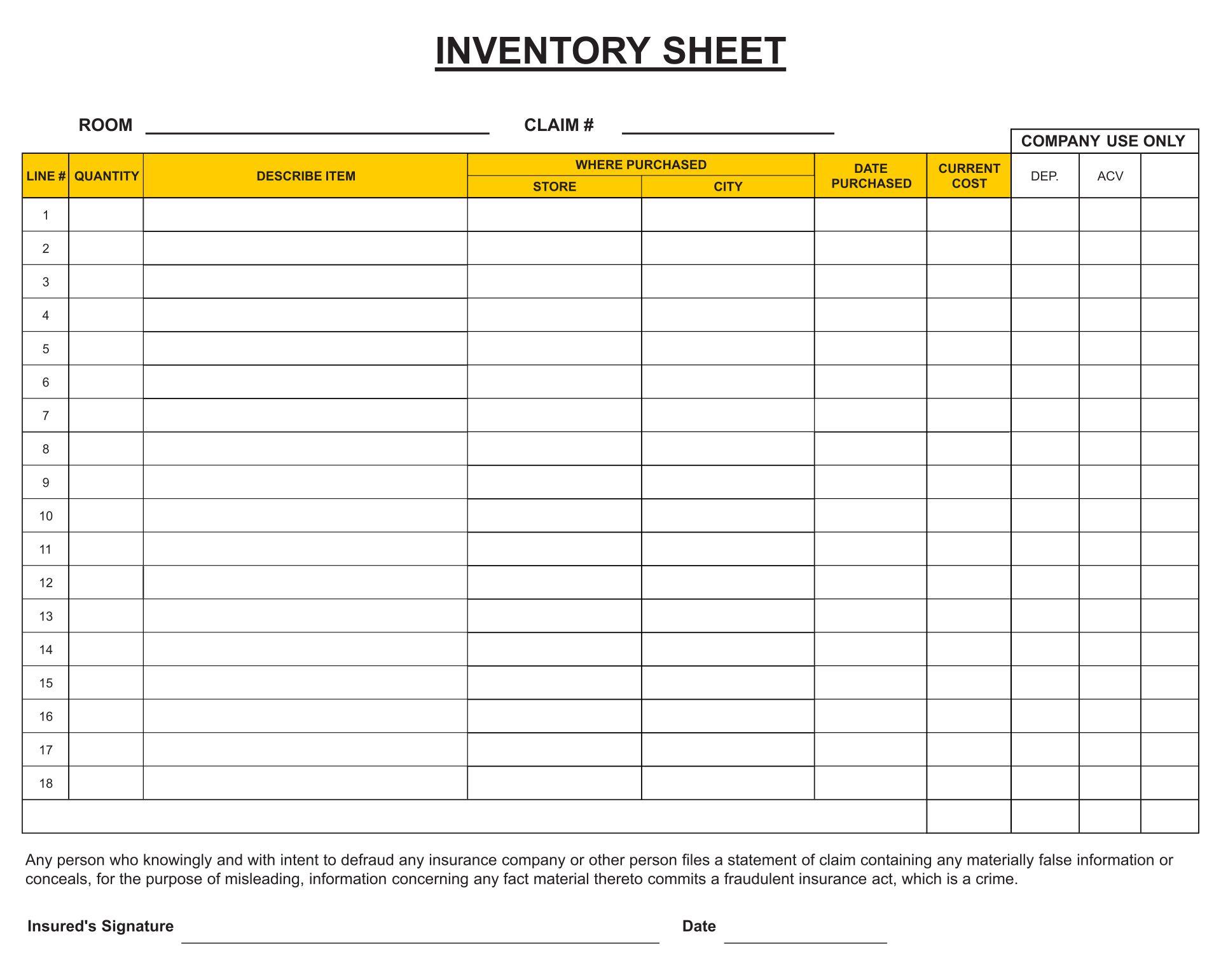 Print Blank Spreadsheet