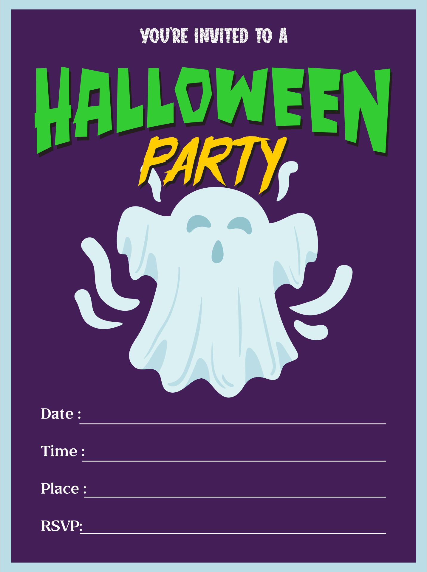 5 best halloween birthday invitations