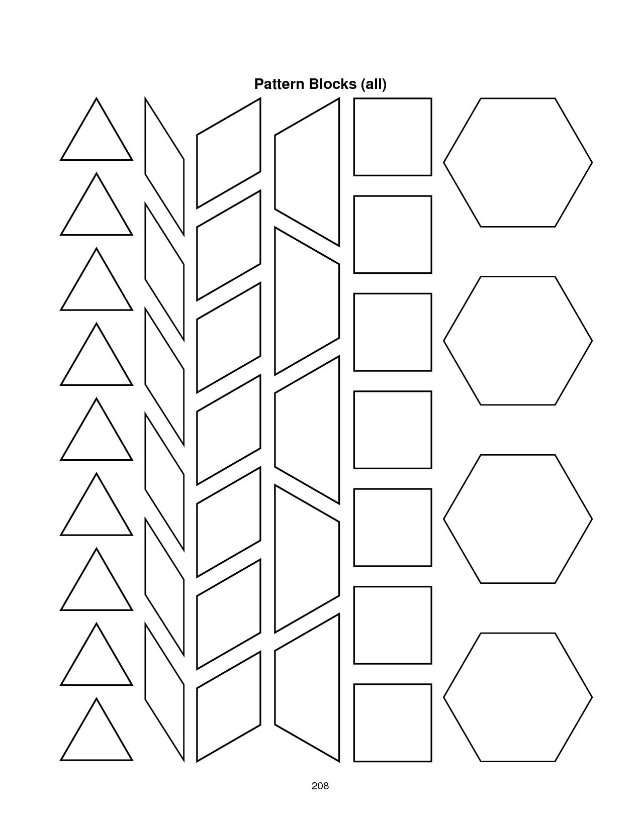 Search Results For Pattern Block Worksheets Printables
