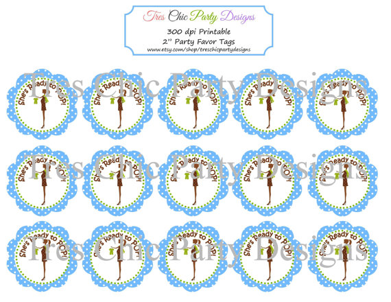 photograph regarding Ready to Pop Free Printable identified as Well prepared In direction of Pop Template. no cost boy or girl shower borders for term