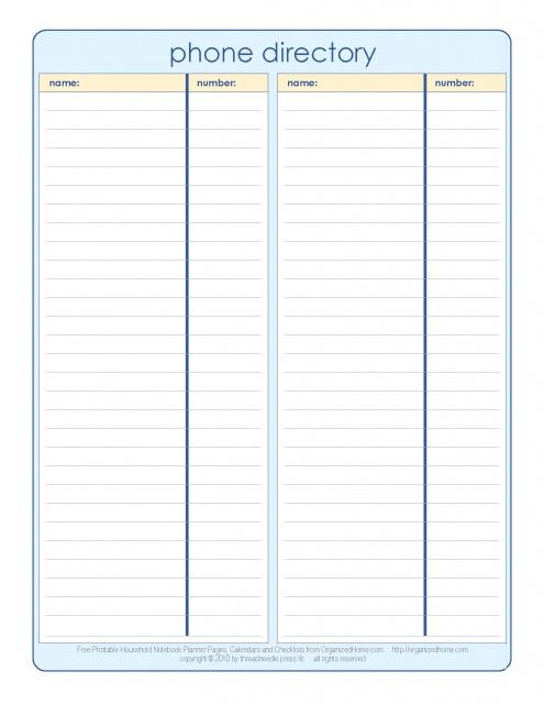 Phone Directory Template Vosvetenet – Phone List Template Excel