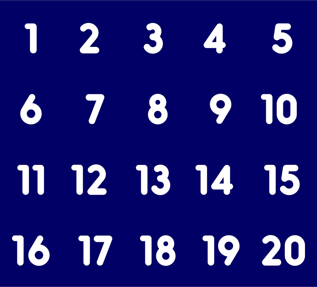 6 Best Images Of Large Printable Numbers 11 20
