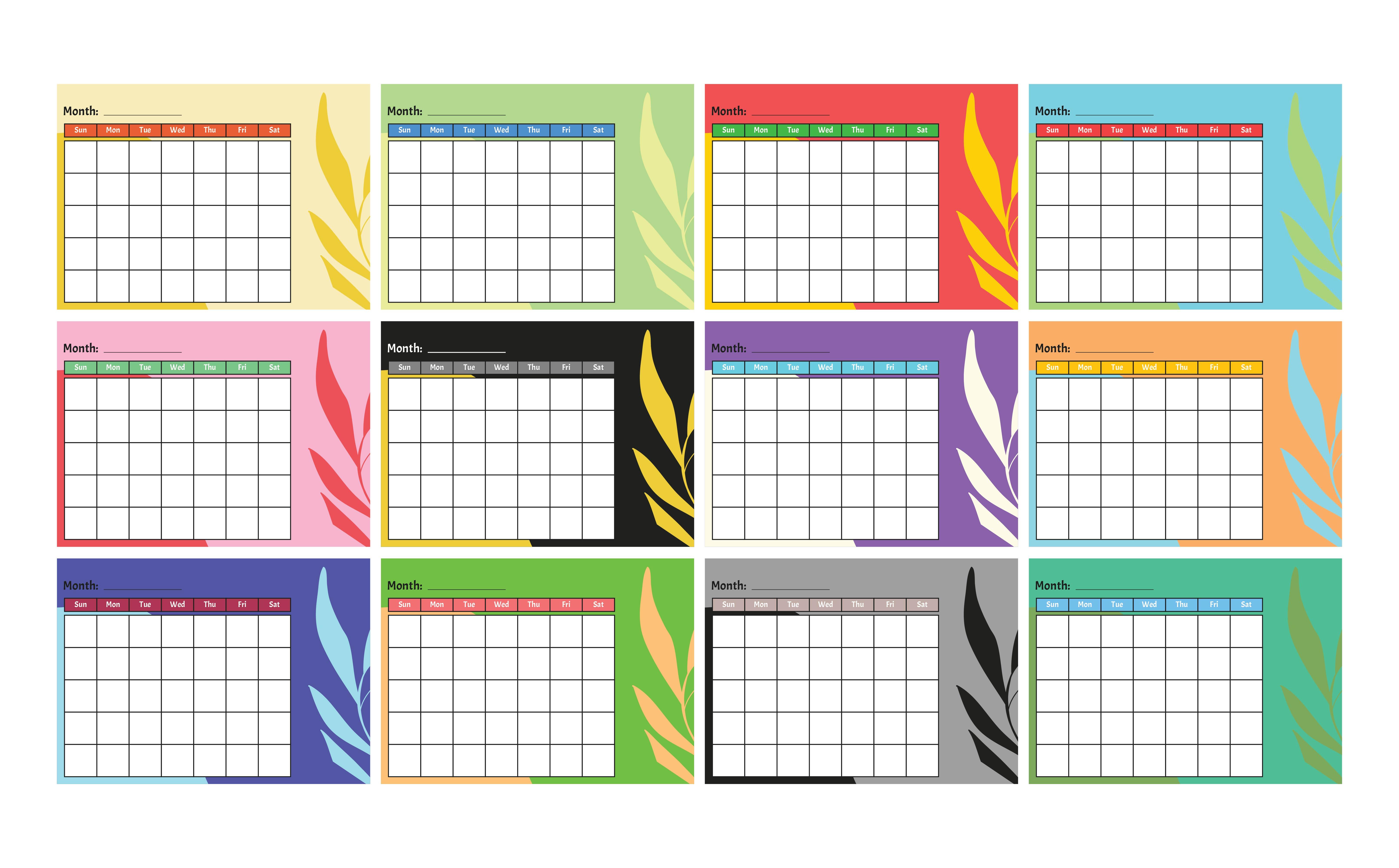 7 Best Images Of Kindergarten Monthly Calendar Printable
