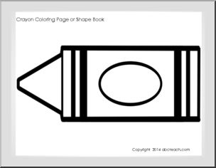 7 best images of printable crayon color coloring pages color