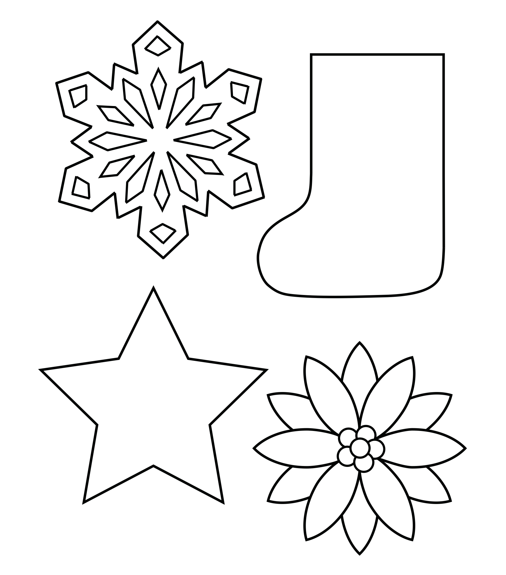 Christmas Wreath Coloring Page Shapes Worksheet