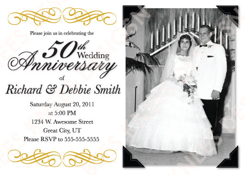 Simple 50th Wedding Anniversary Template