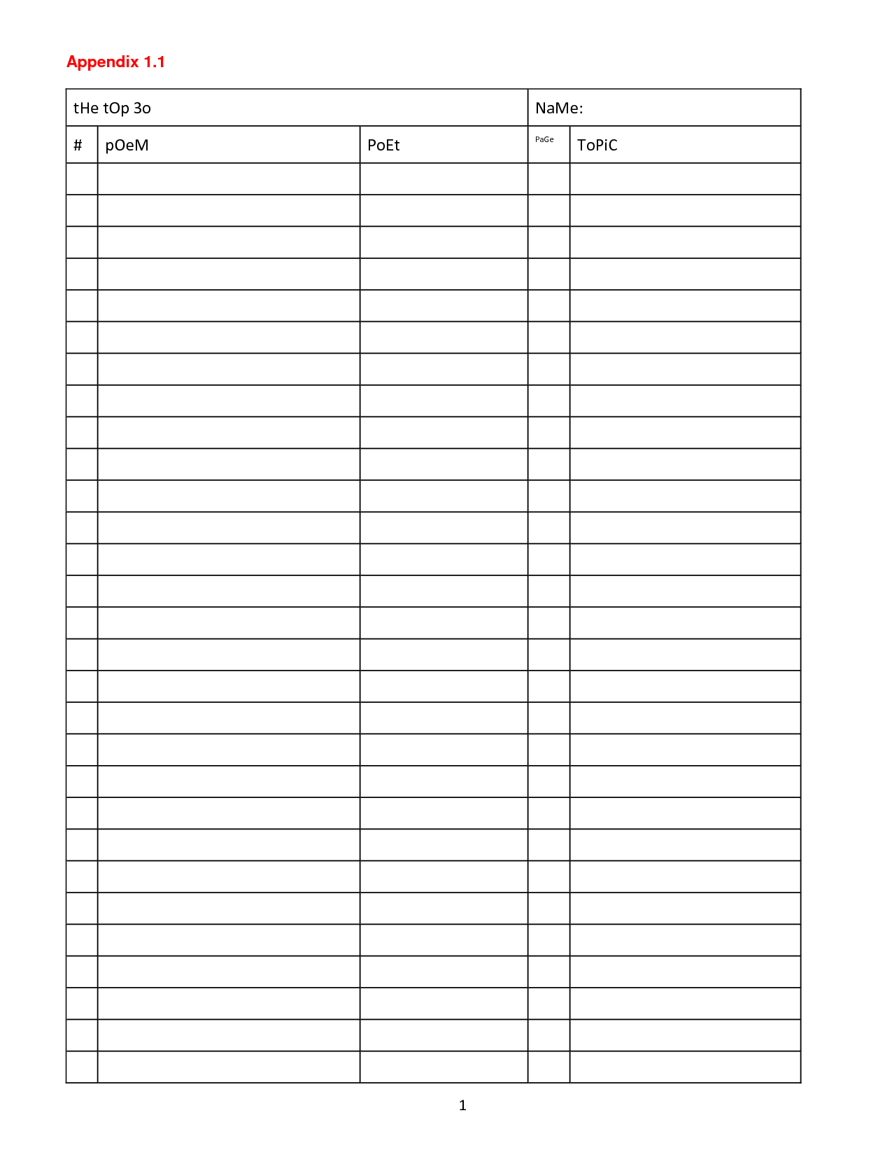 4 Best Images Of Printable Blank Charts With Columns