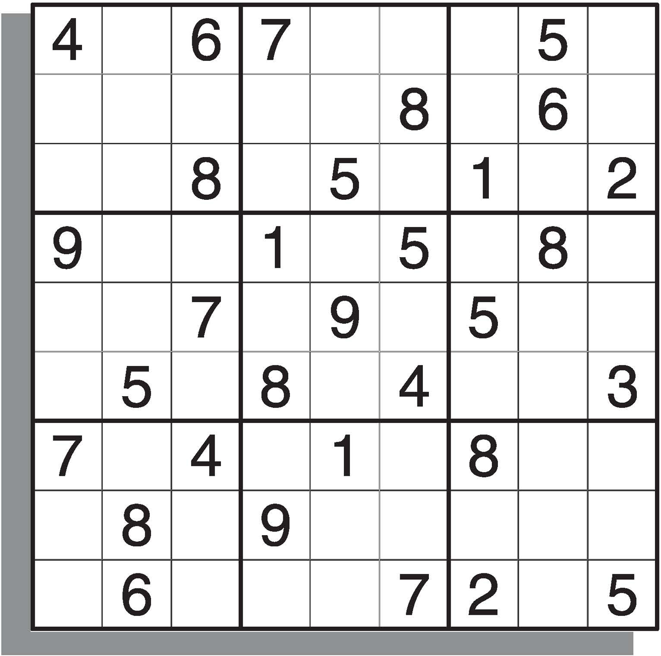Sudoku Medium Level Printable