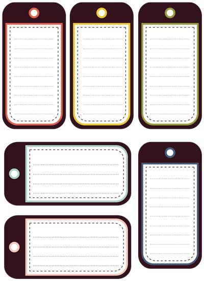 Avery Luggage Tag Template  luggage tag templates to