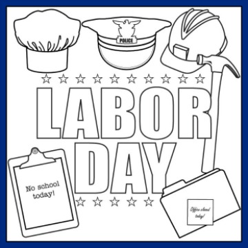 labor day coloring pages printable for kids