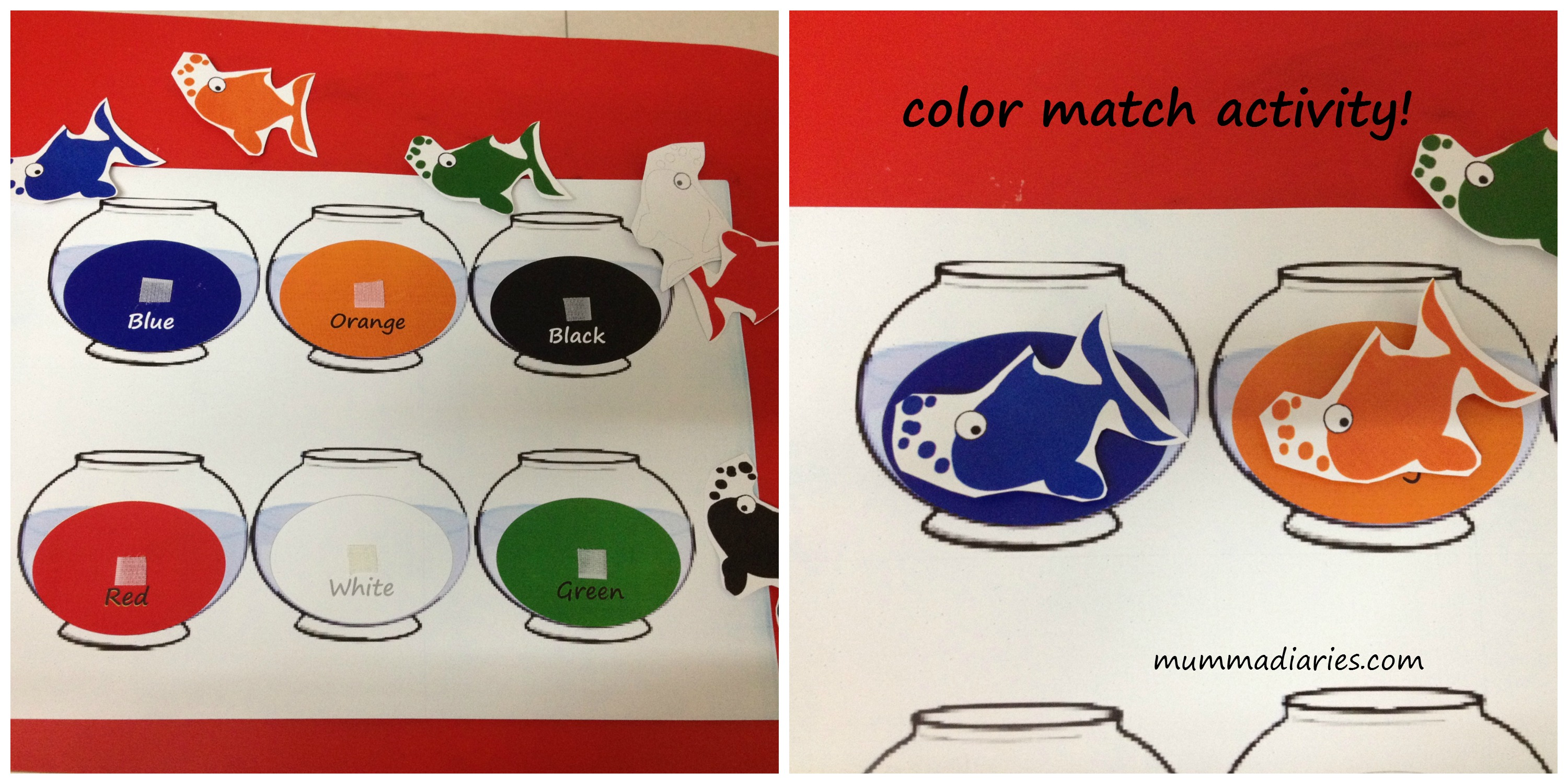 4 Best Images Of Free Printable Color Fish Matching Game