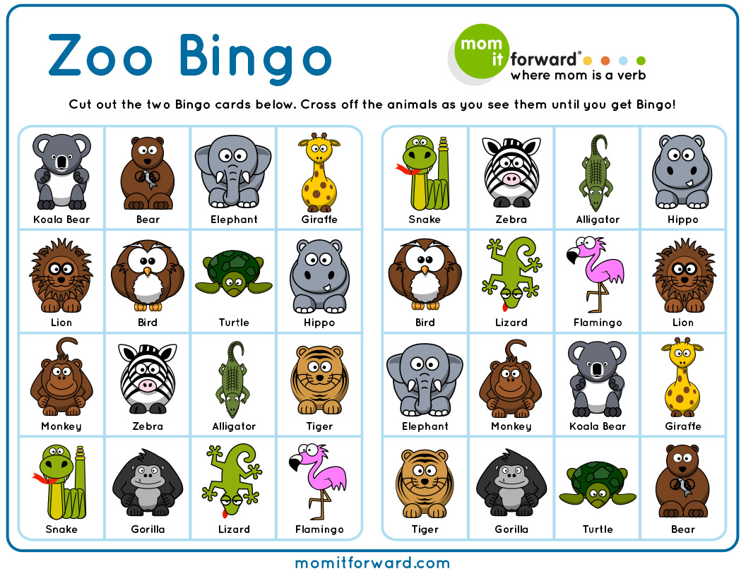5 Best Images Of Printable Zoo Animals Flash Cards