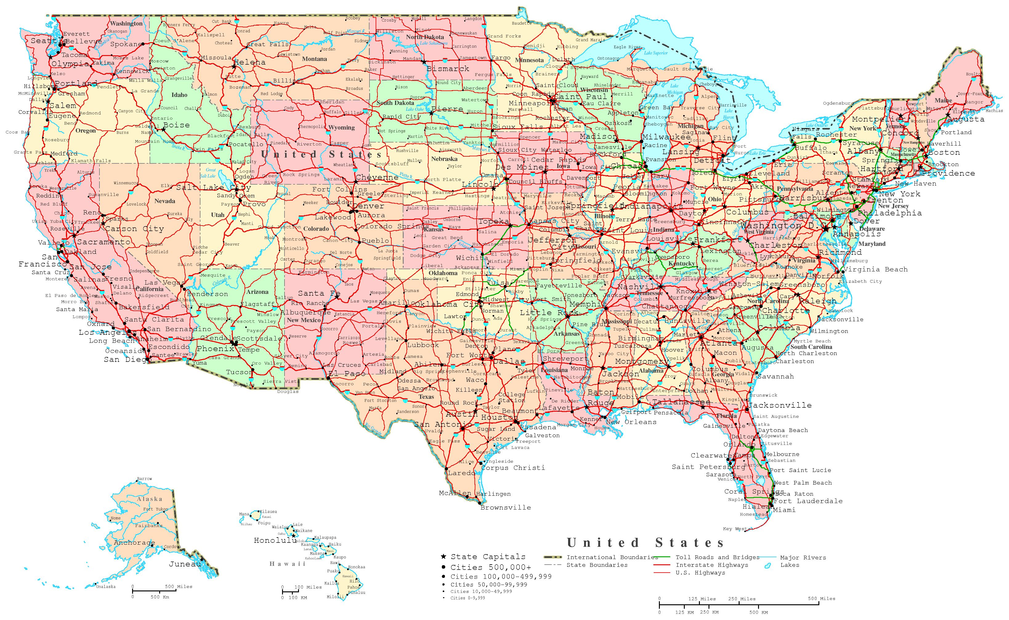 6 Best Images Of Free Printable Us Road Maps