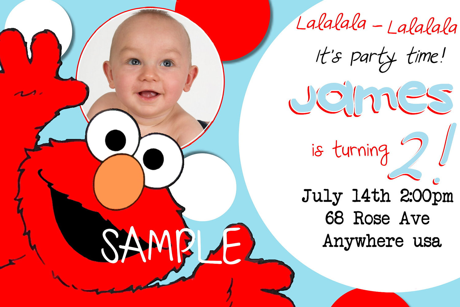 Best Images Of Elmo First Birthday Printable