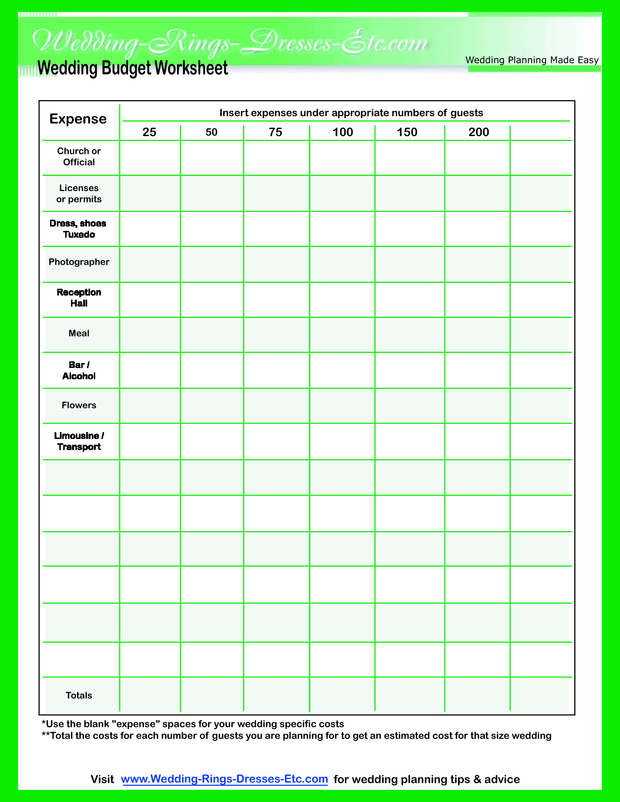 9 Best Images Of Simple Event Budget Worksheet Printable